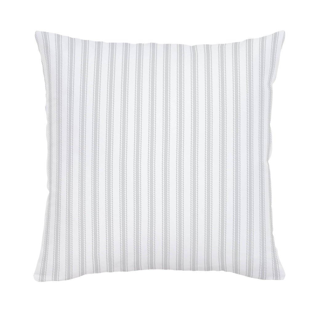 Product image for French Gray Ticking Stripe Throw Pillow