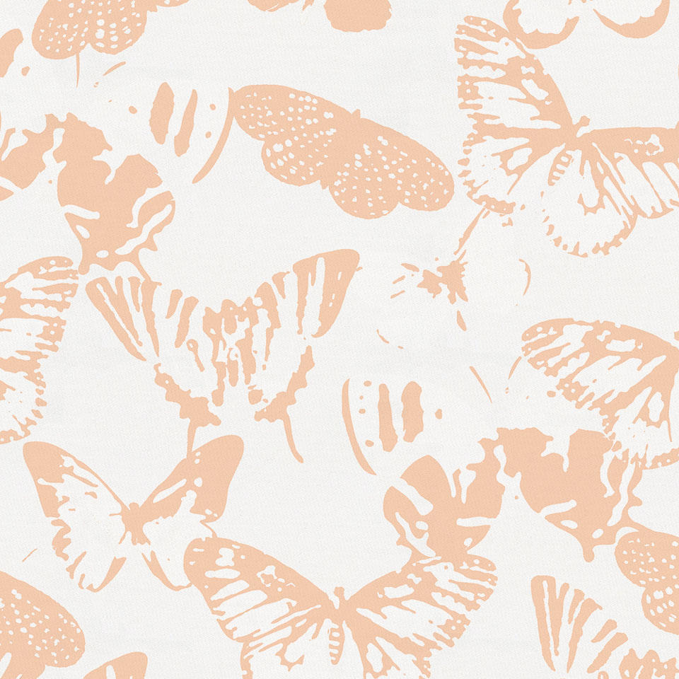 Product image for Peach Modern Butterflies Fabric