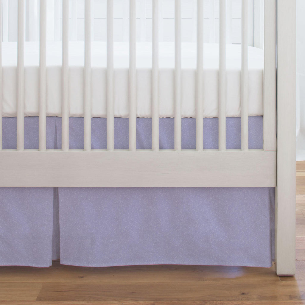 Product image for Lilac Heather Crib Skirt Single-Pleat