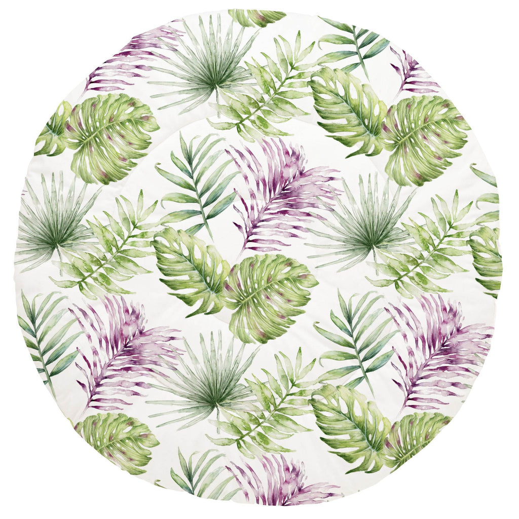 Product image for Purple Painted Tropical Baby Play Mat