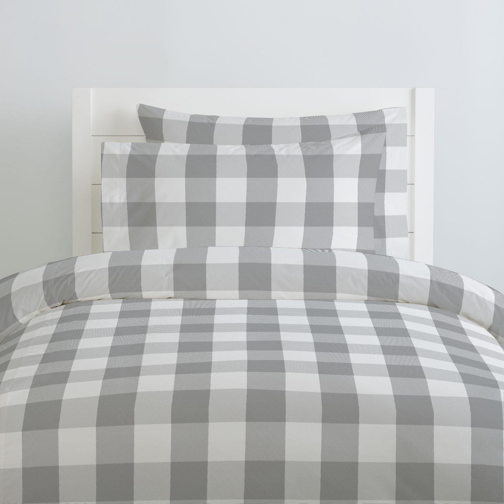 Product image for Gray Buffalo Check Duvet Cover