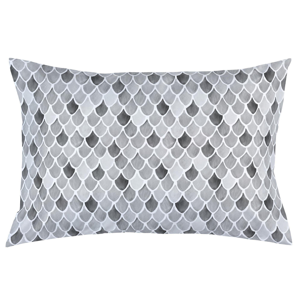 Product image for Gray Watercolor Scales Pillow Case