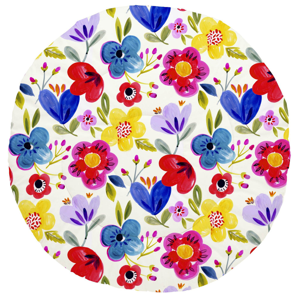 Product image for Primary Painted Flowers Baby Play Mat