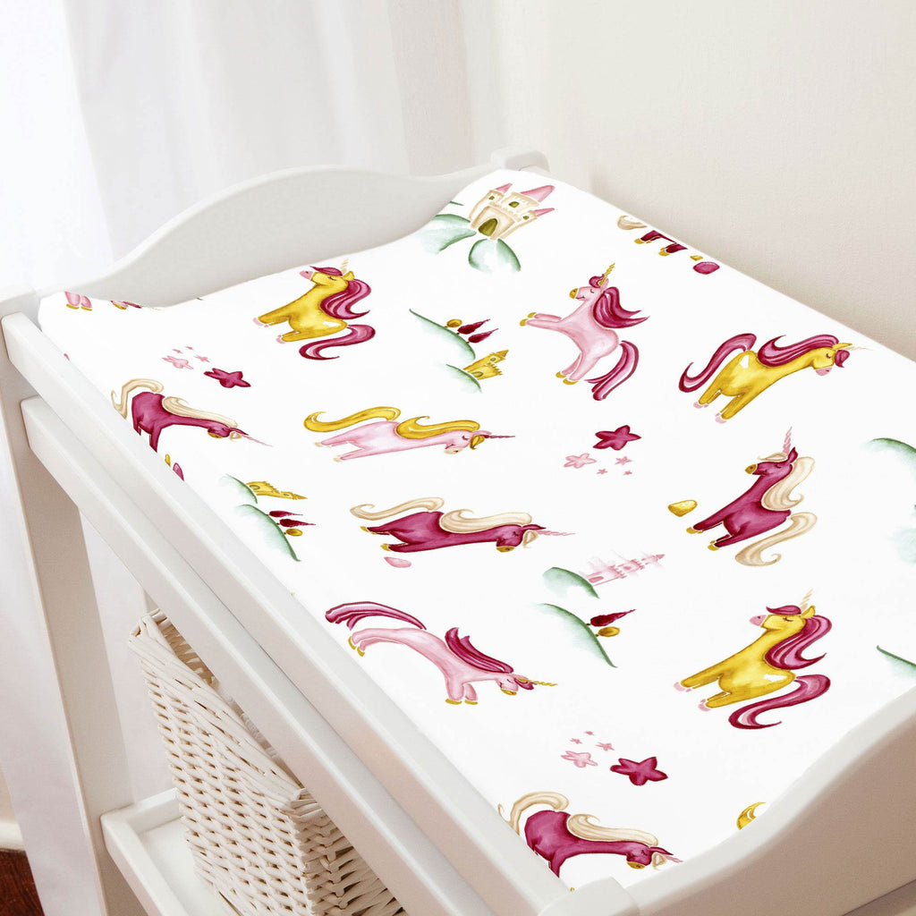 Product image for Painted Unicorns Changing Pad Cover
