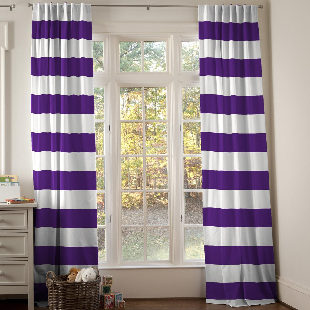 Product image for Purple Horizontal Stripe Drape Panel