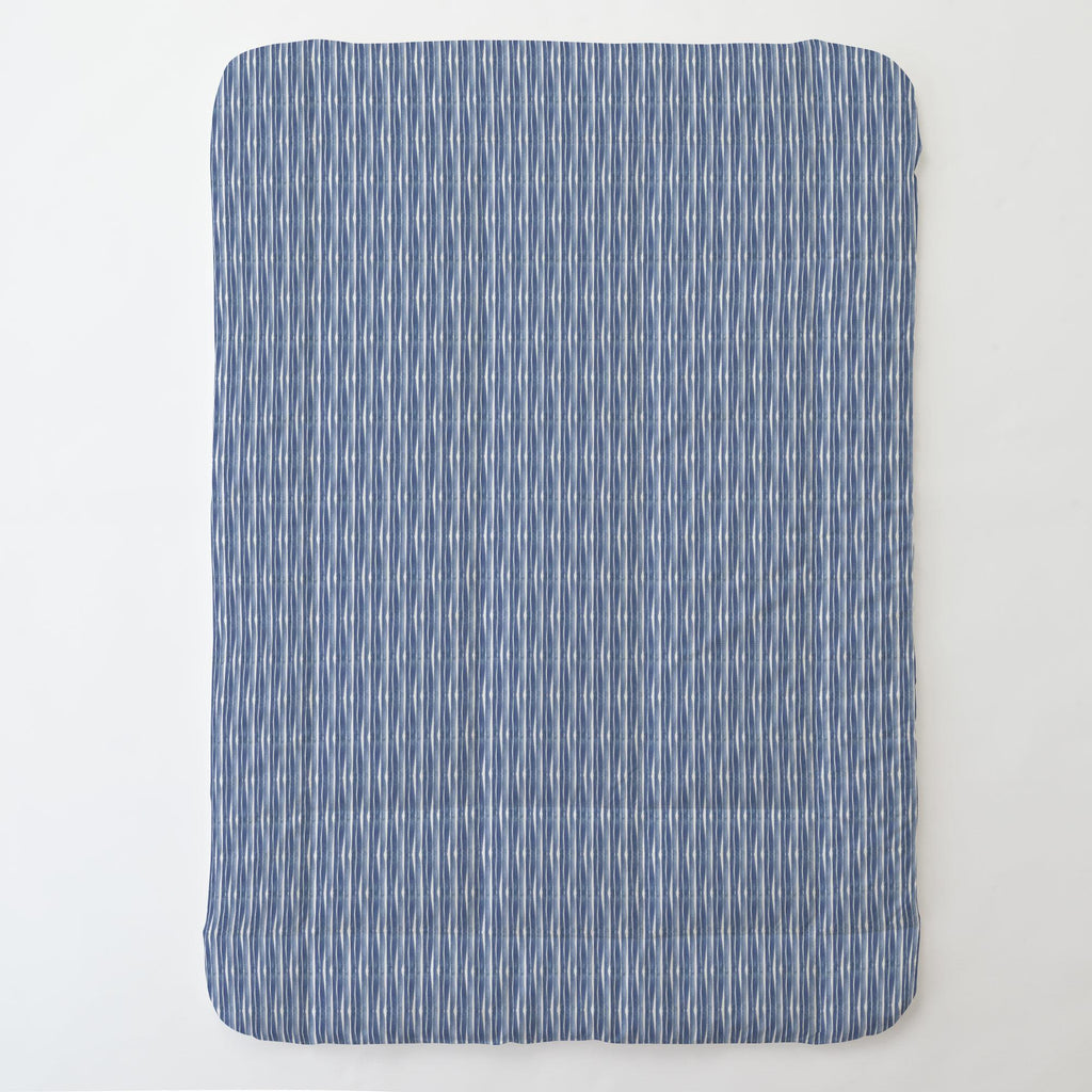 Product image for Blue Ocean Stripe Toddler Comforter