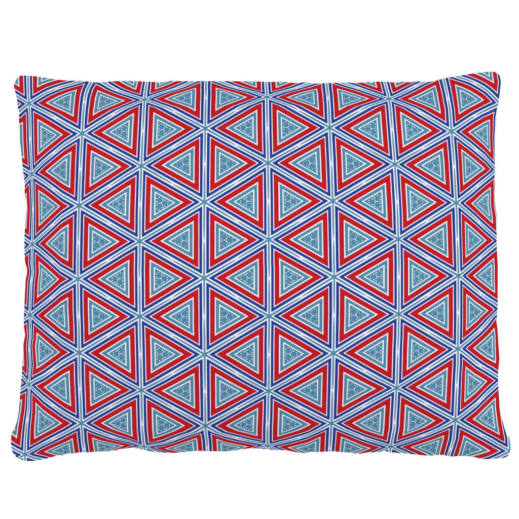Product image for Red Nautical Triangles Accent Pillow