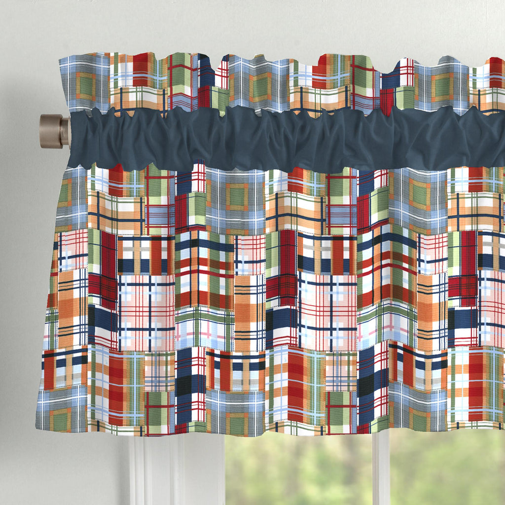Product image for Patchwork Plaid Window Valance