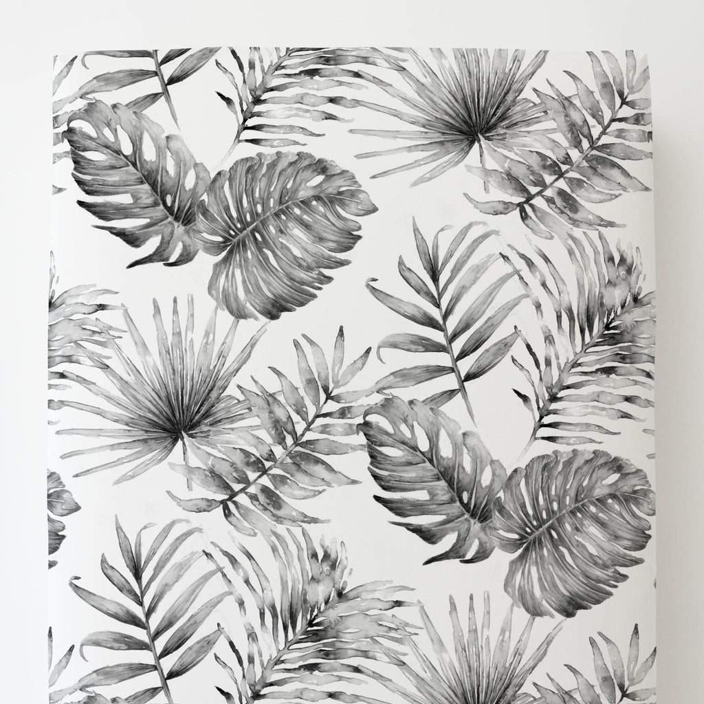 Product image for Gray Painted Tropical Toddler Sheet Bottom Fitted