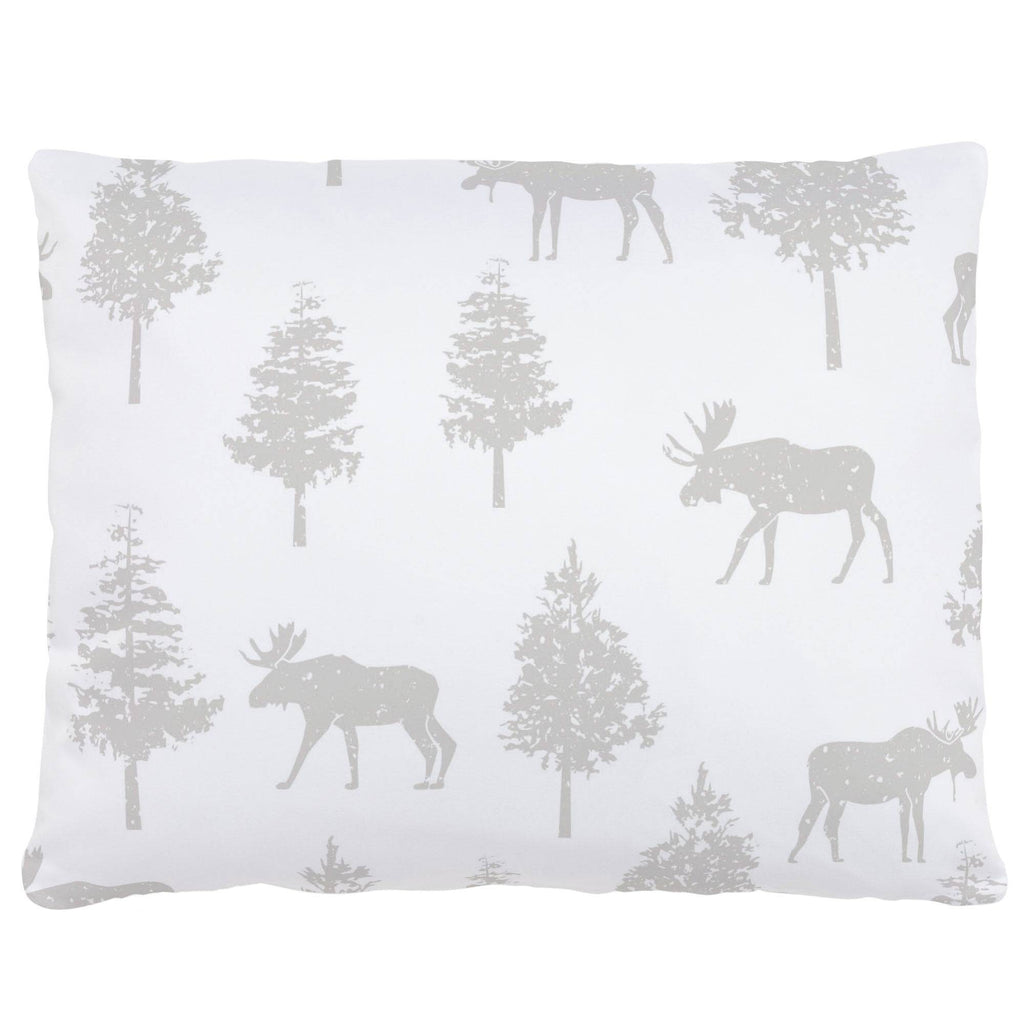 Product image for French Gray Moose Accent Pillow