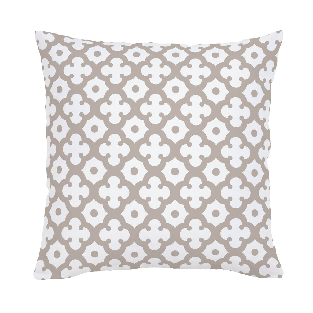 Product image for Taupe Moroccan Tile Throw Pillow