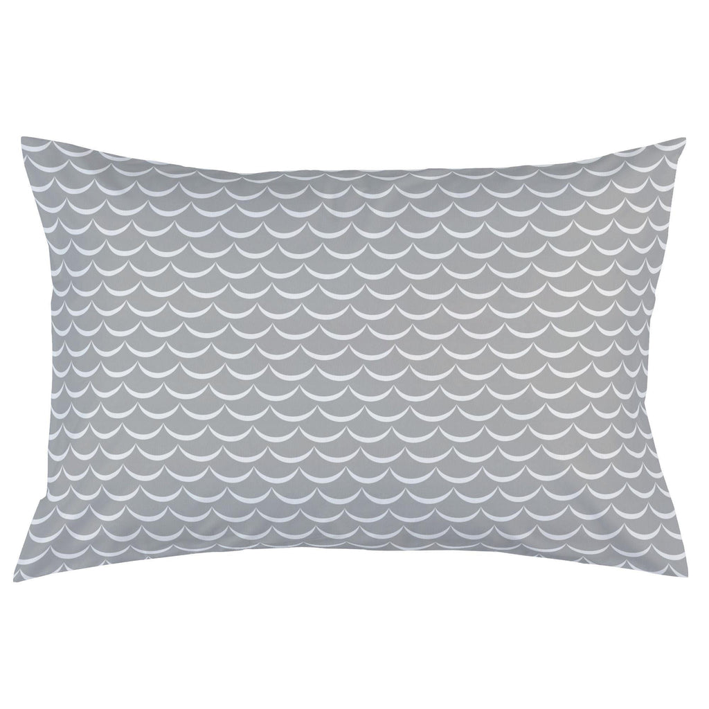 Product image for Silver Gray Waves Pillow Case