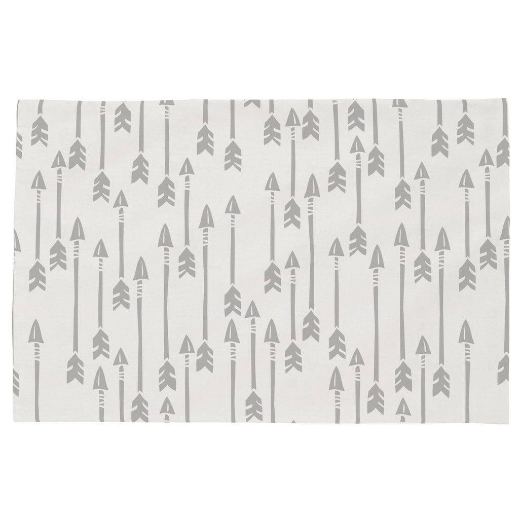 Product image for Silver Gray Flying Arrow Toddler Pillow Case