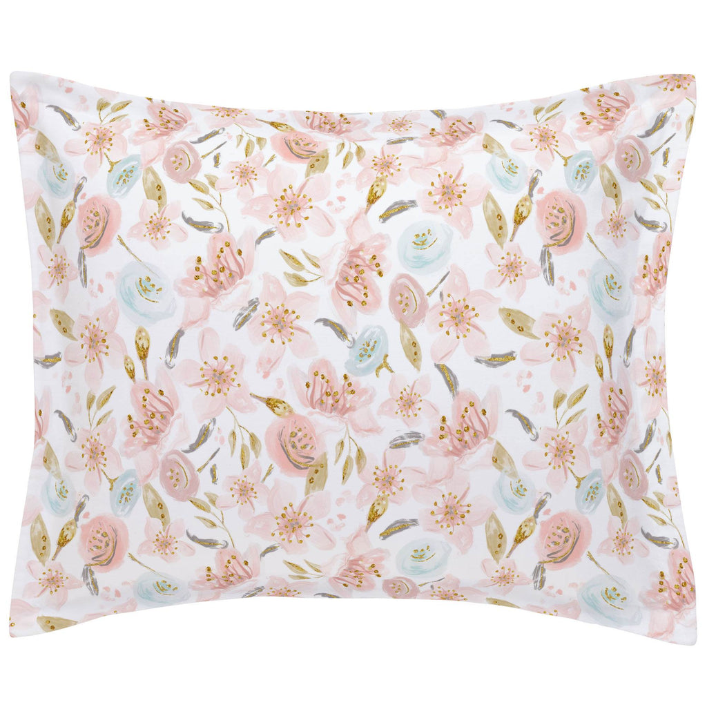 Product image for Pink Hawaiian Floral Pillow Sham