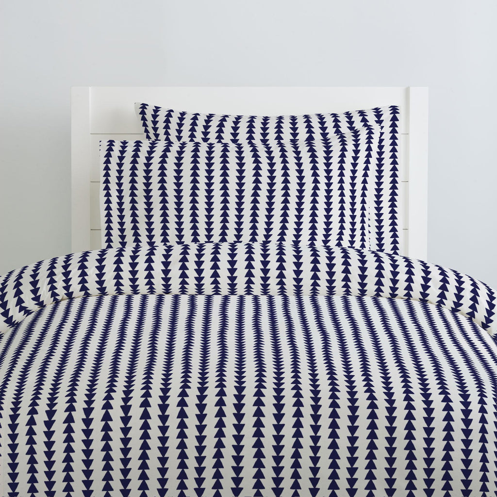 Product image for Windsor Navy Arrow Stripe Duvet Cover