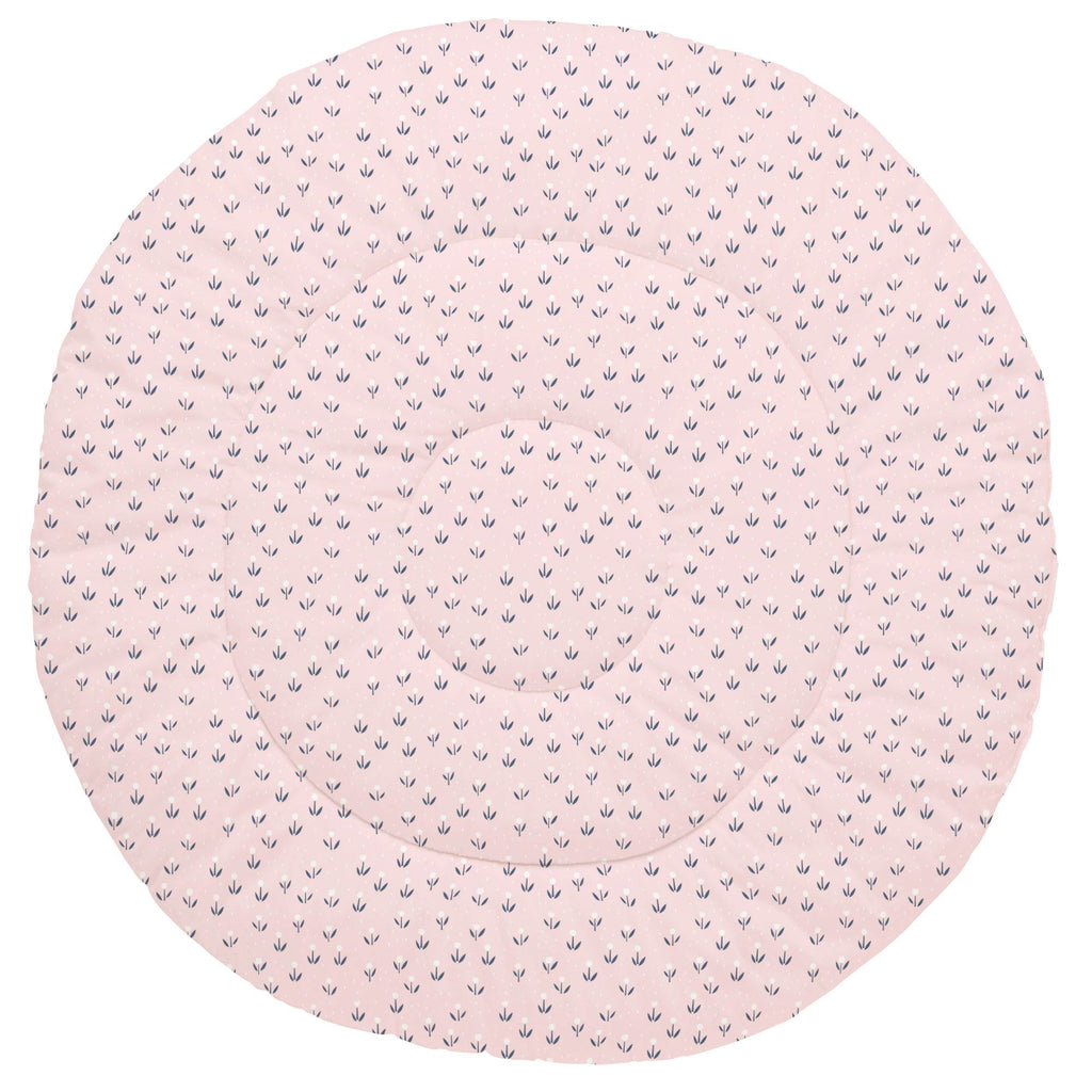 Product image for Pink Baby Woodland Flowers Baby Play Mat