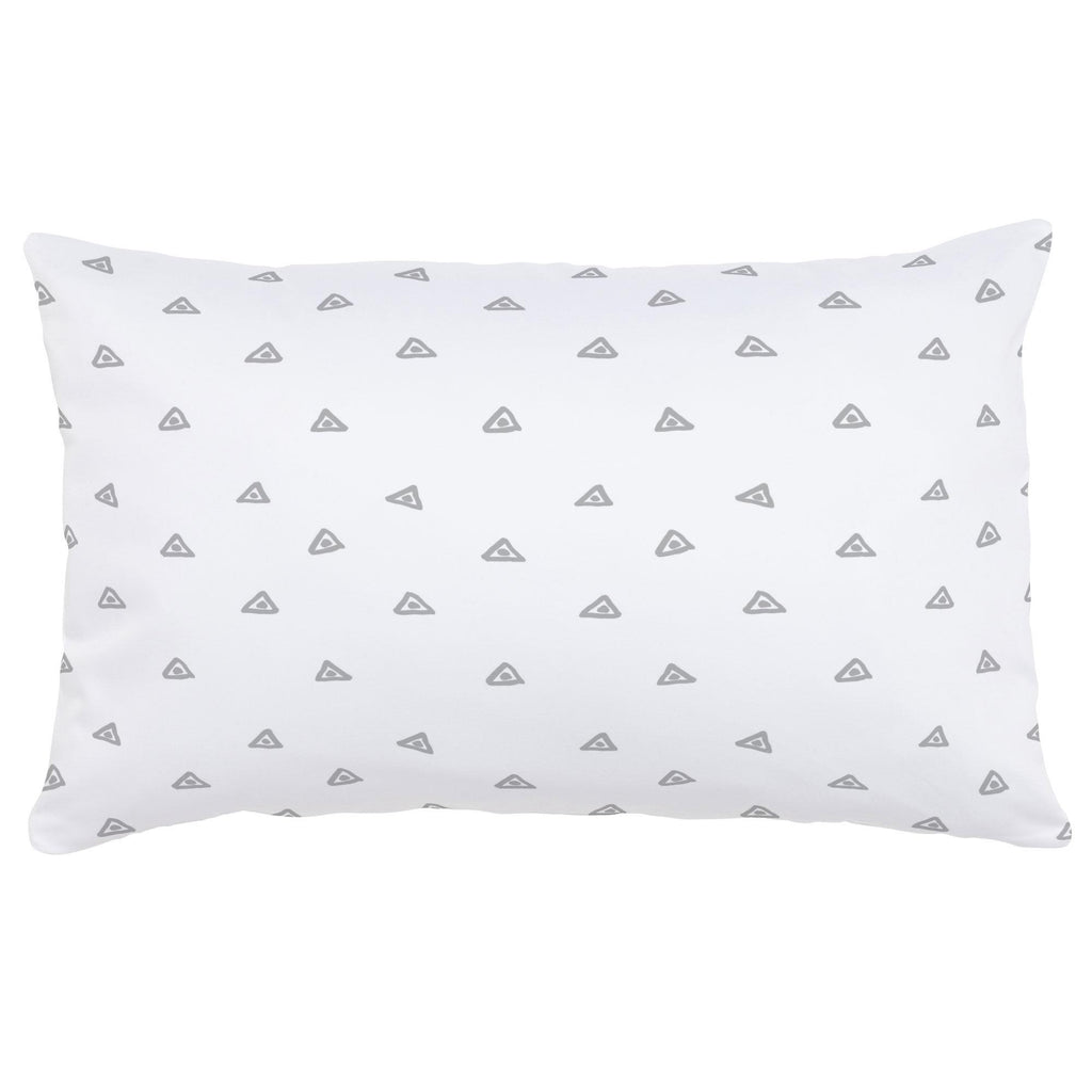 Product image for Silver Gray Triangle Dots Lumbar Pillow