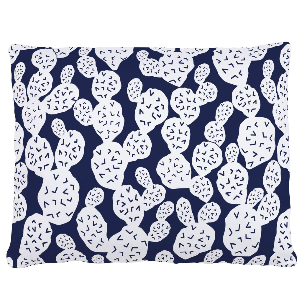 Product image for Navy Prickly Pear Accent Pillow