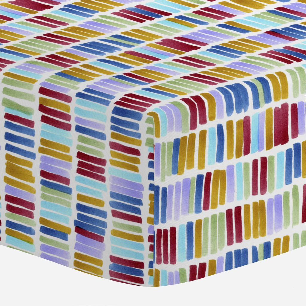 Product image for Colorful Bars Crib Sheet