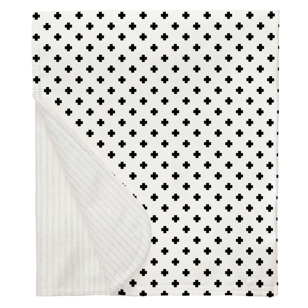 Product image for Onyx Mini Swiss Cross Baby Blanket