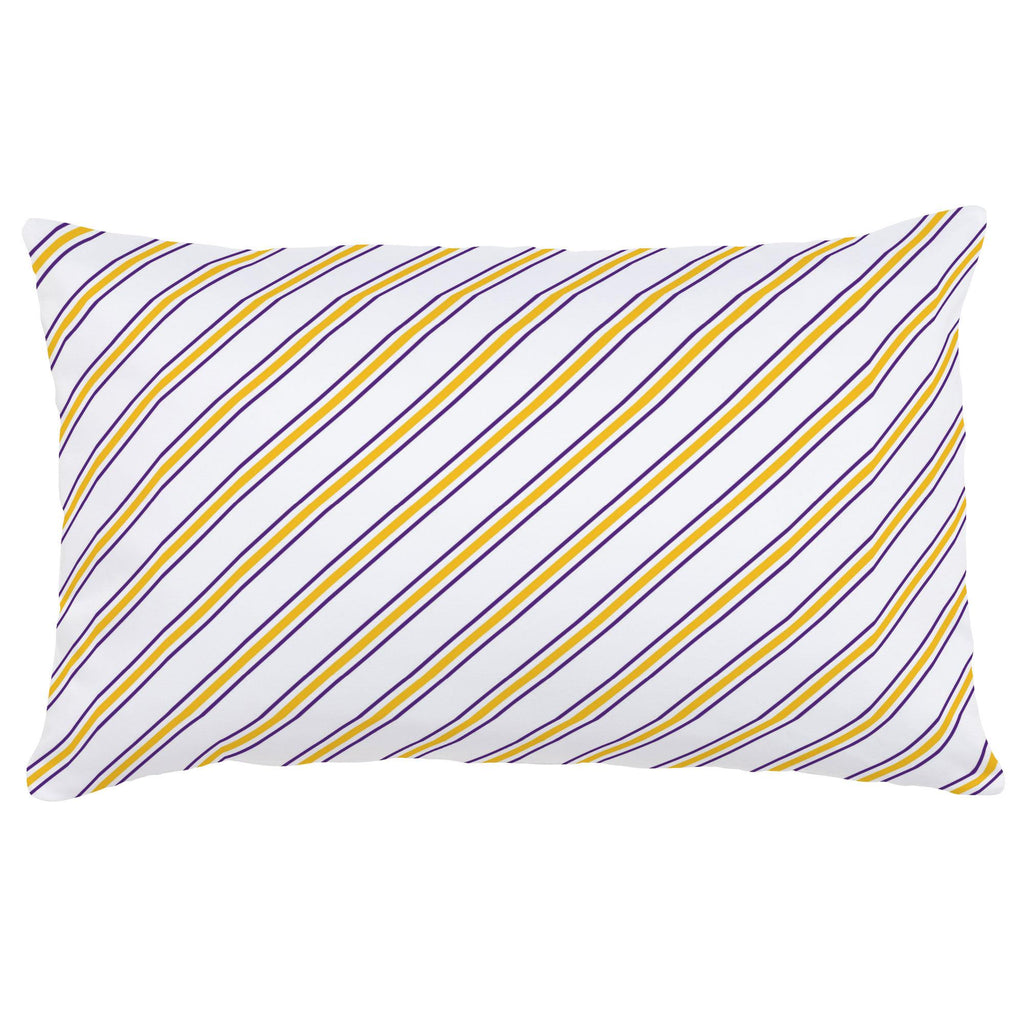 Product image for Purple and Yellow Necktie Stripe Lumbar Pillow