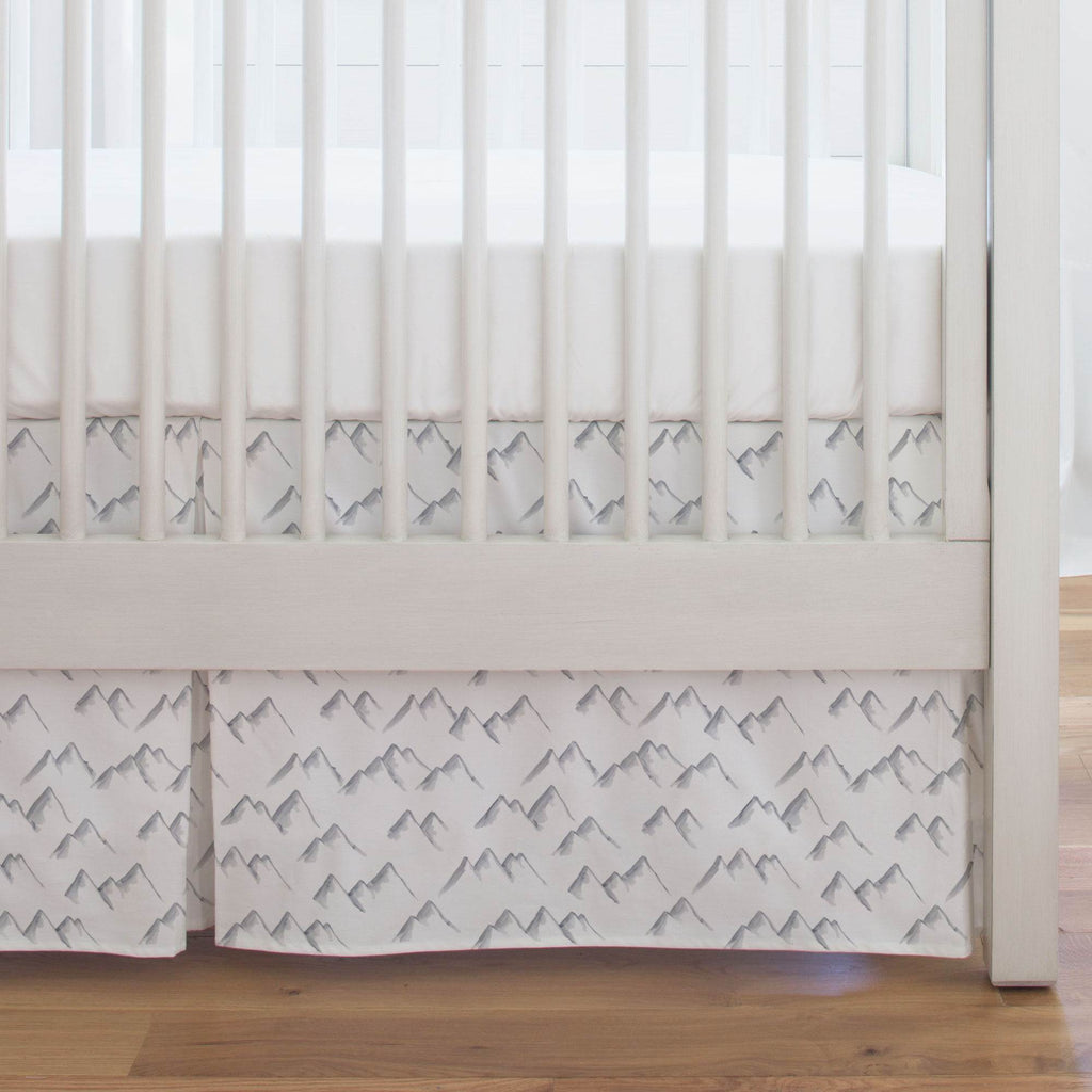 Product image for Watercolor Mountains Crib Skirt Single-Pleat