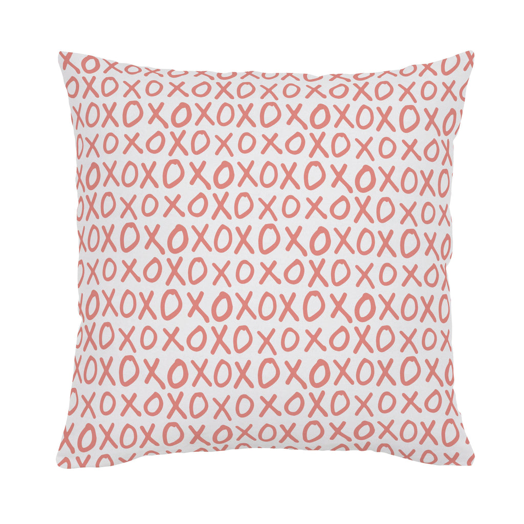 Product image for Light Coral XO Throw Pillow