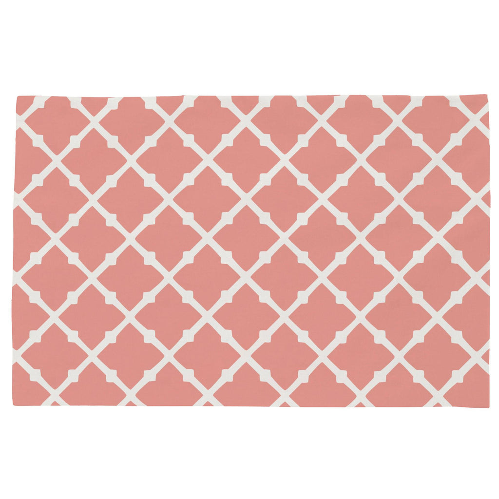 Product image for Light Coral Lattice Toddler Pillow Case