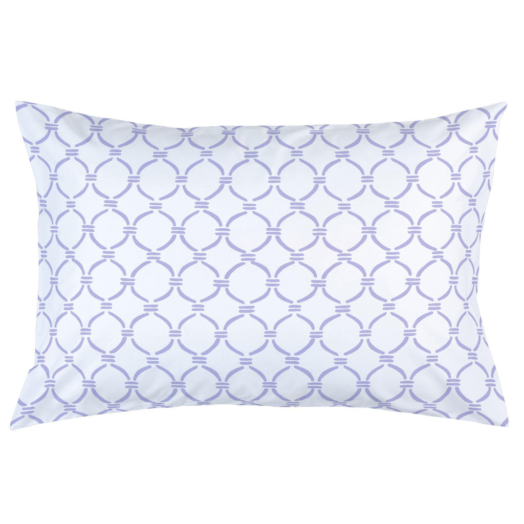 Product image for Lilac Lattice Circles Pillow Case