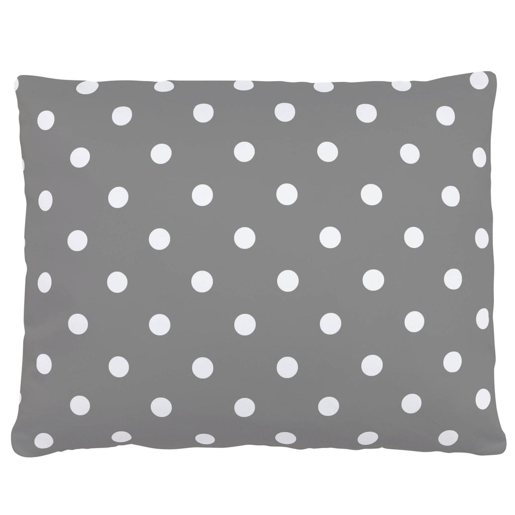 Product image for Gray and White Polka Dot Accent Pillow