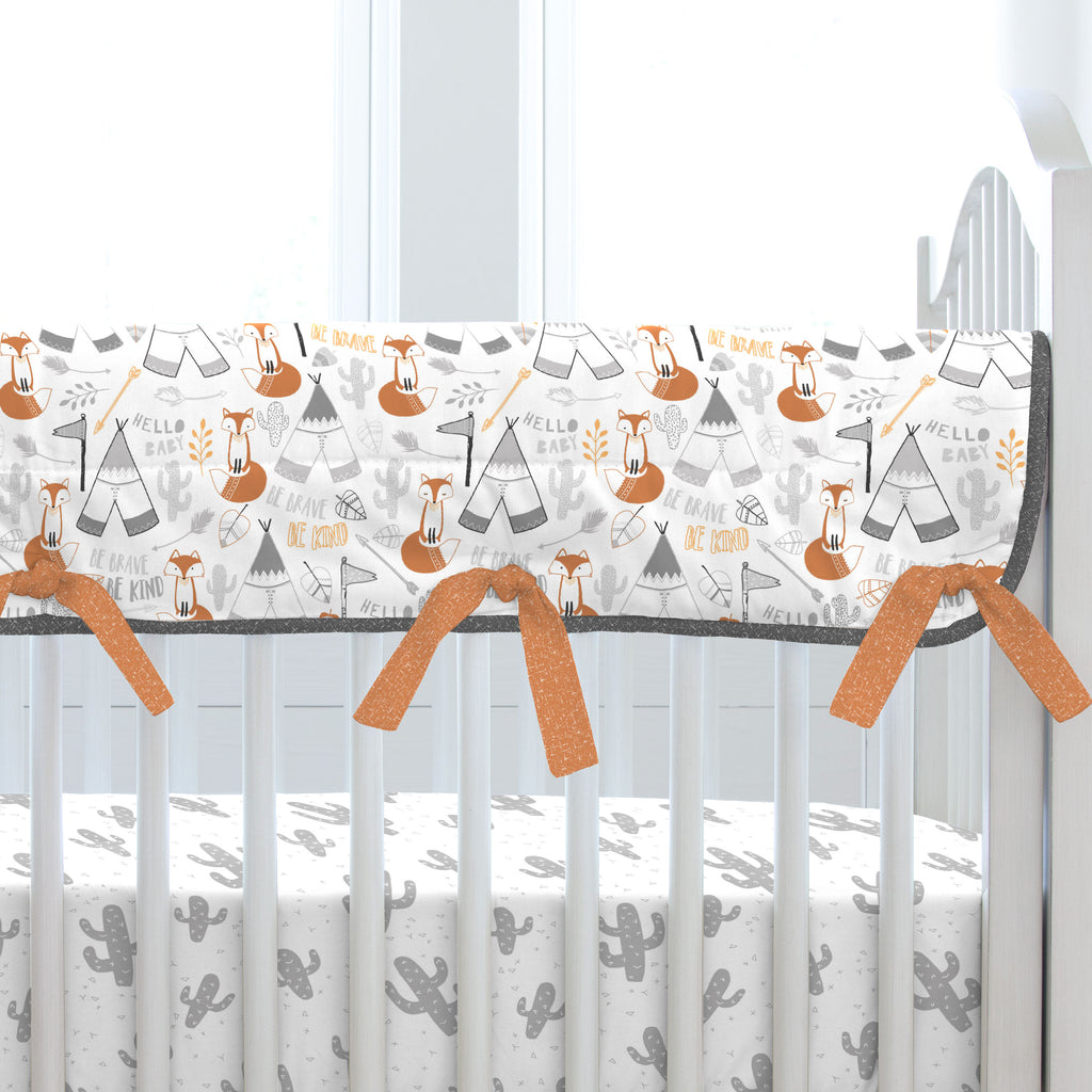 Product image for Brave Fox Crib Rail Cover