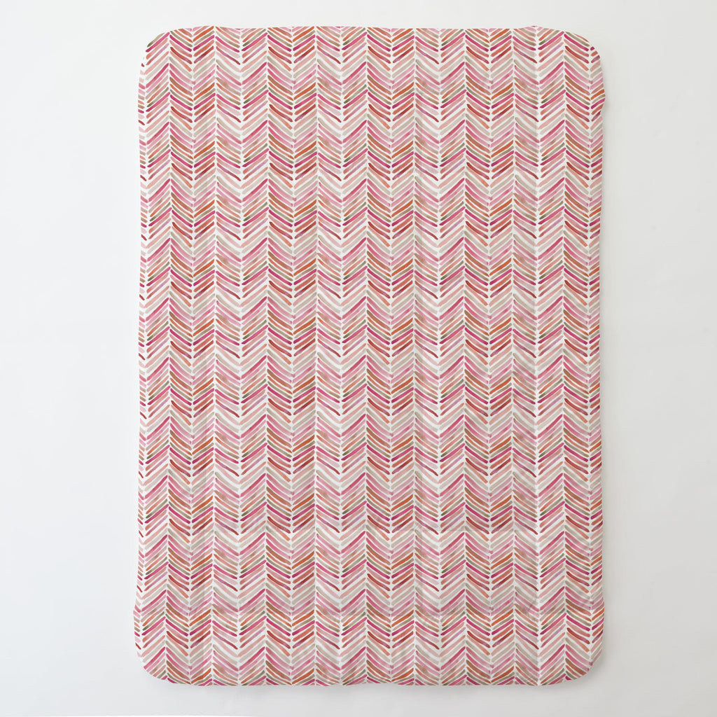 Product image for Pink Painted Chevron Toddler Comforter