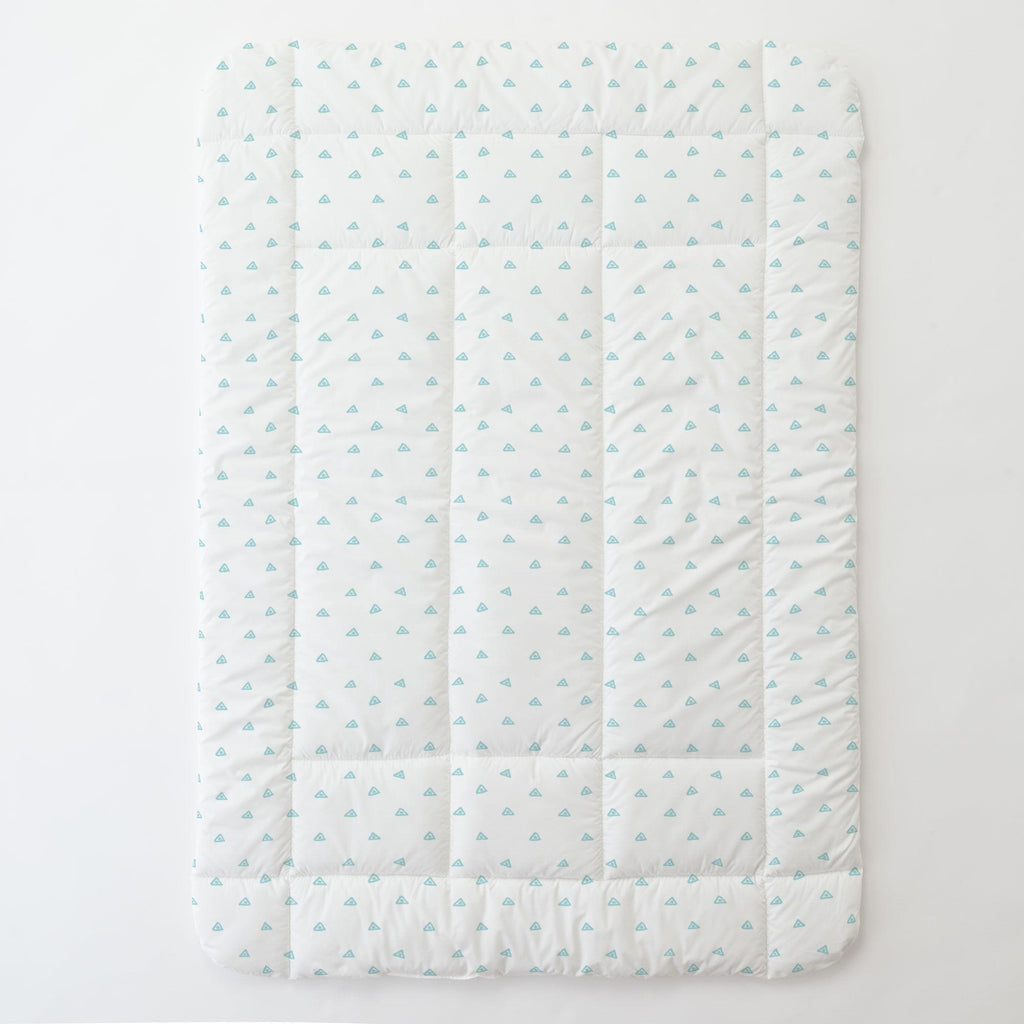Product image for Seafoam Aqua Triangle Dots Toddler Comforter