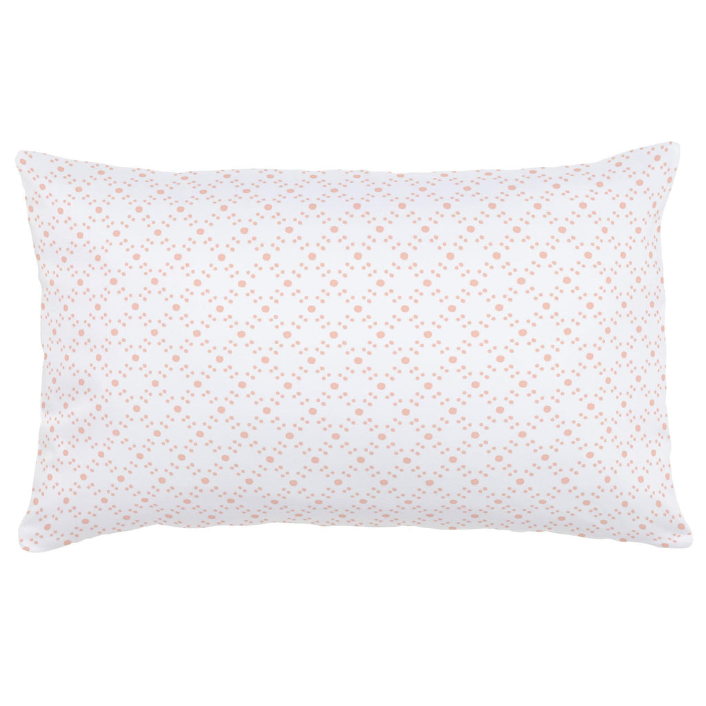 Product image for Peach Lattice Dots Lumbar Pillow