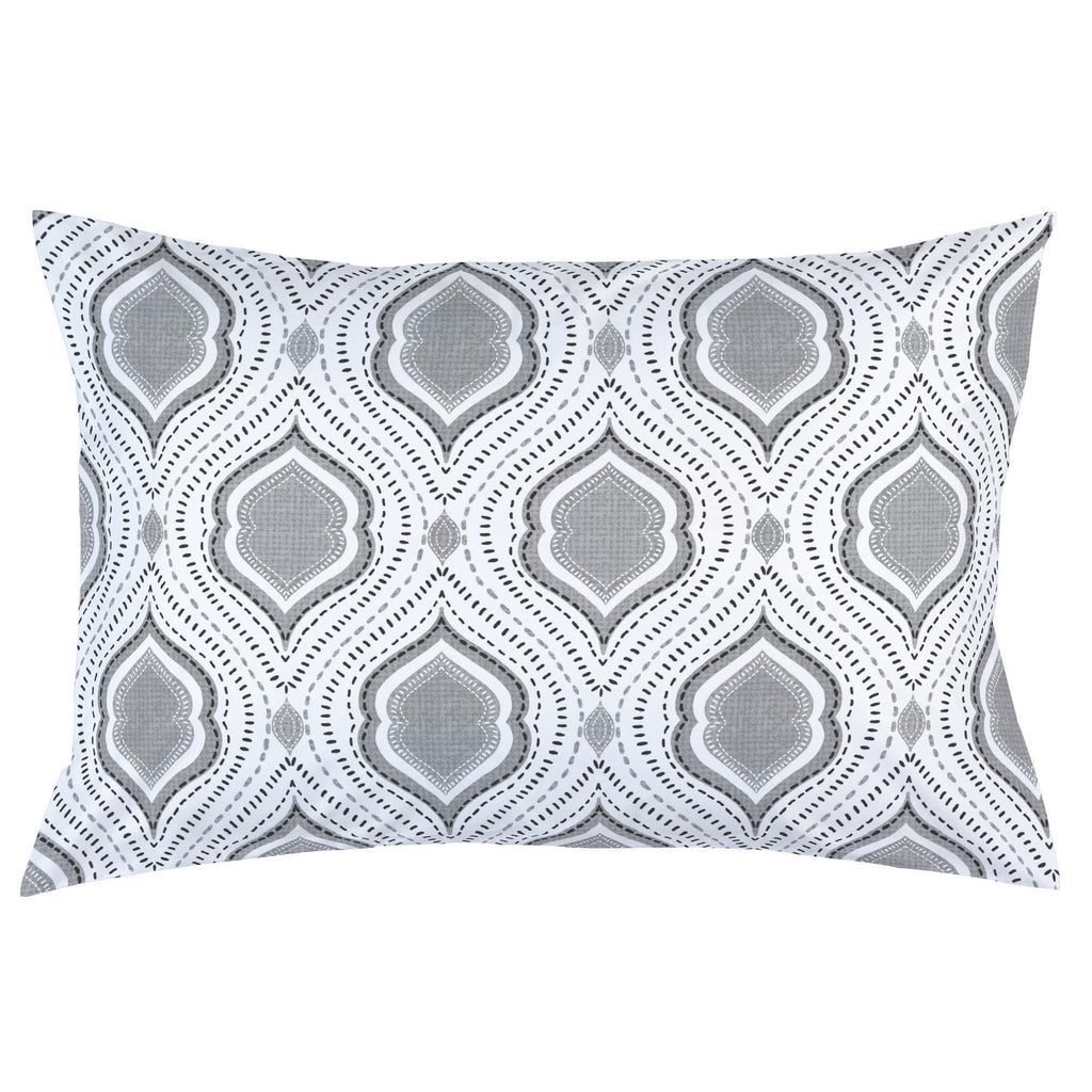 Product image for Gray Moroccan Damask Pillow Case