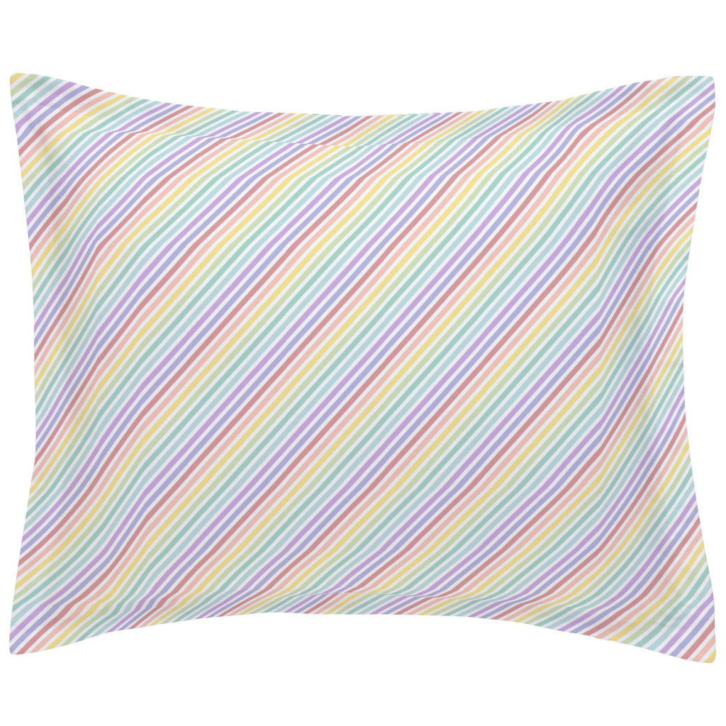 Product image for Pastel Rainbow Stripe Pillow Sham