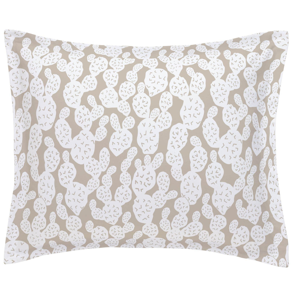 Product image for Taupe Prickly Pear Pillow Sham