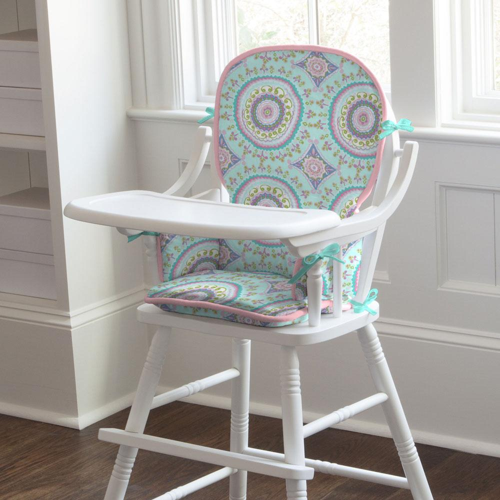 Product image for Aqua Haute Circles High Chair Pad