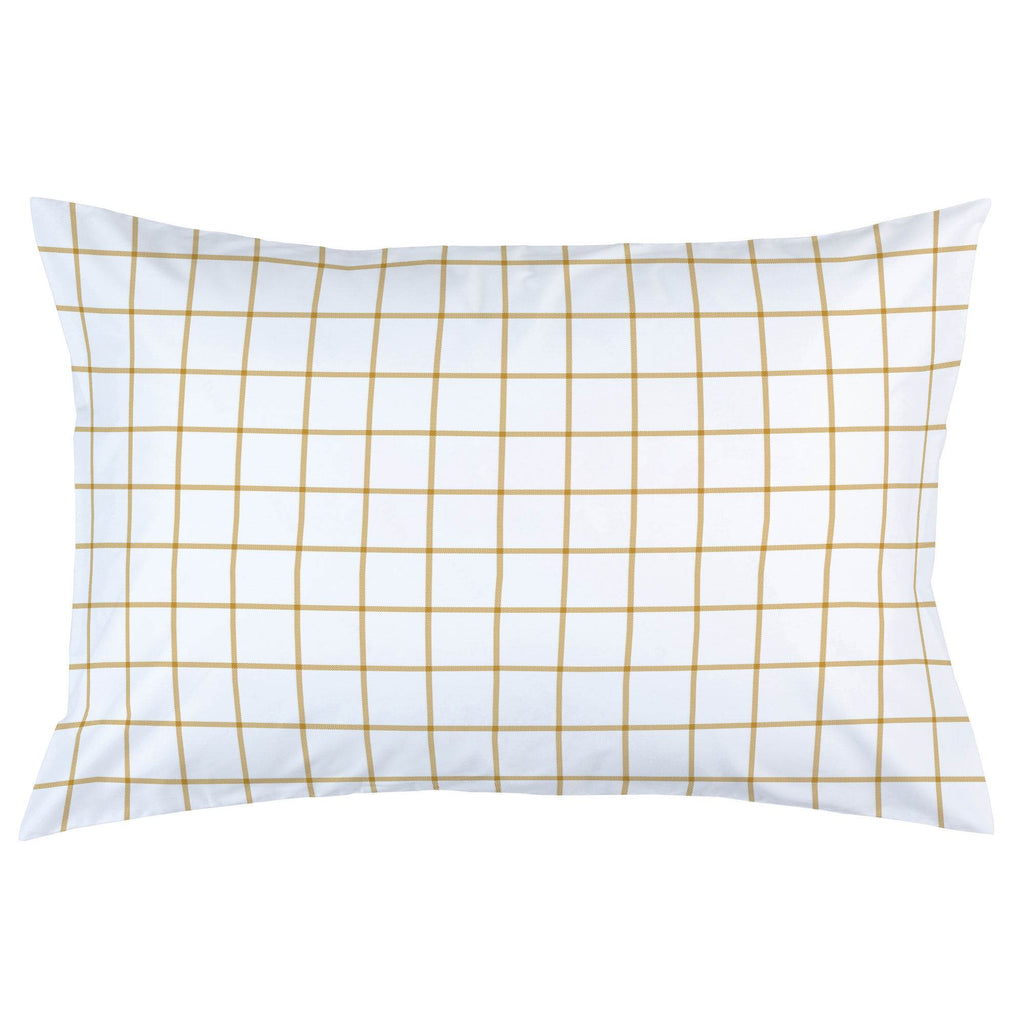 Product image for Mustard Windowpane Pillow Case