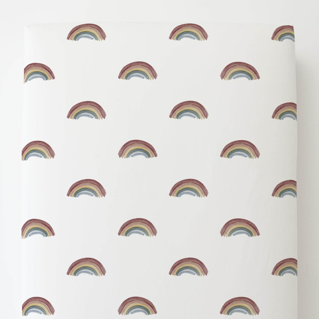 Product image for Soft Rainbows Toddler Sheet Bottom Fitted