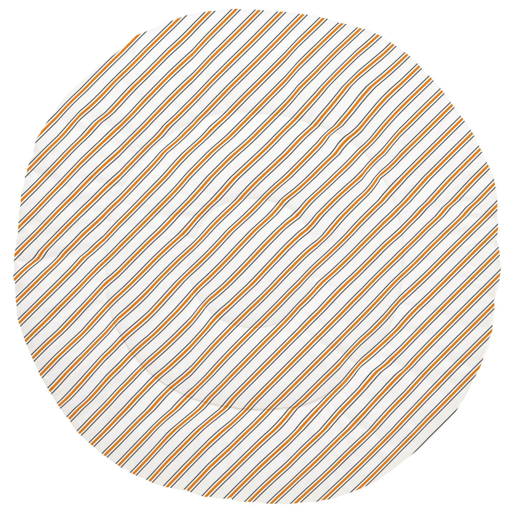 Product image for Gray and Orange Necktie Stripe Baby Play Mat