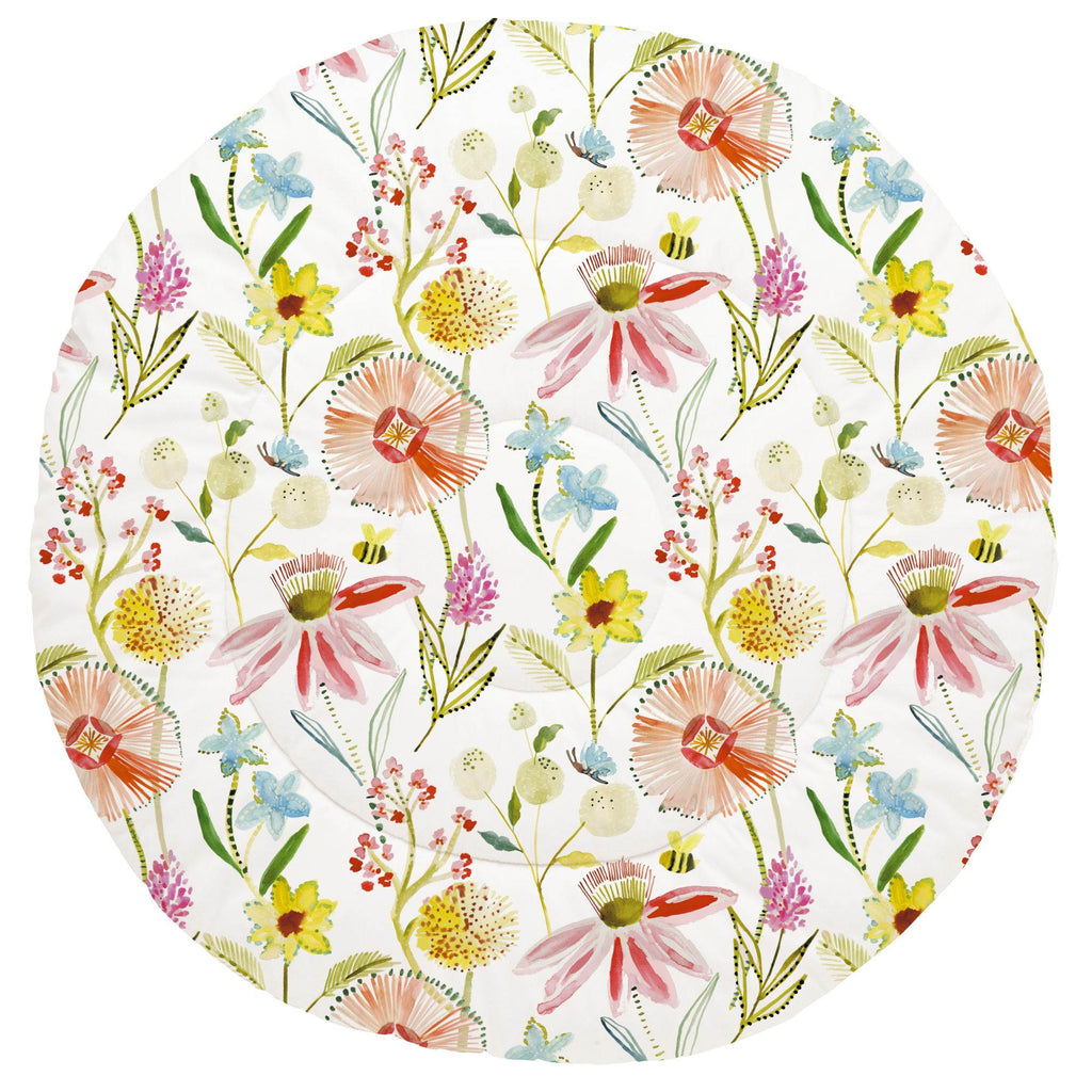 Product image for Watercolor Springtime Baby Play Mat