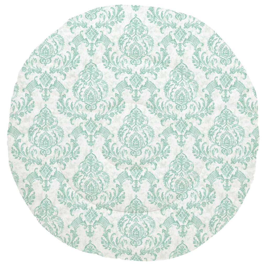 Product image for Mint Painted Damask Baby Play Mat