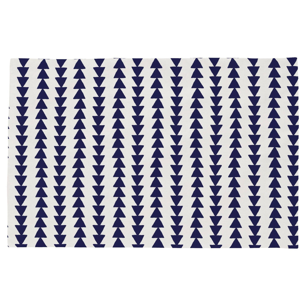 Product image for Windsor Navy Arrow Stripe Toddler Pillow Case