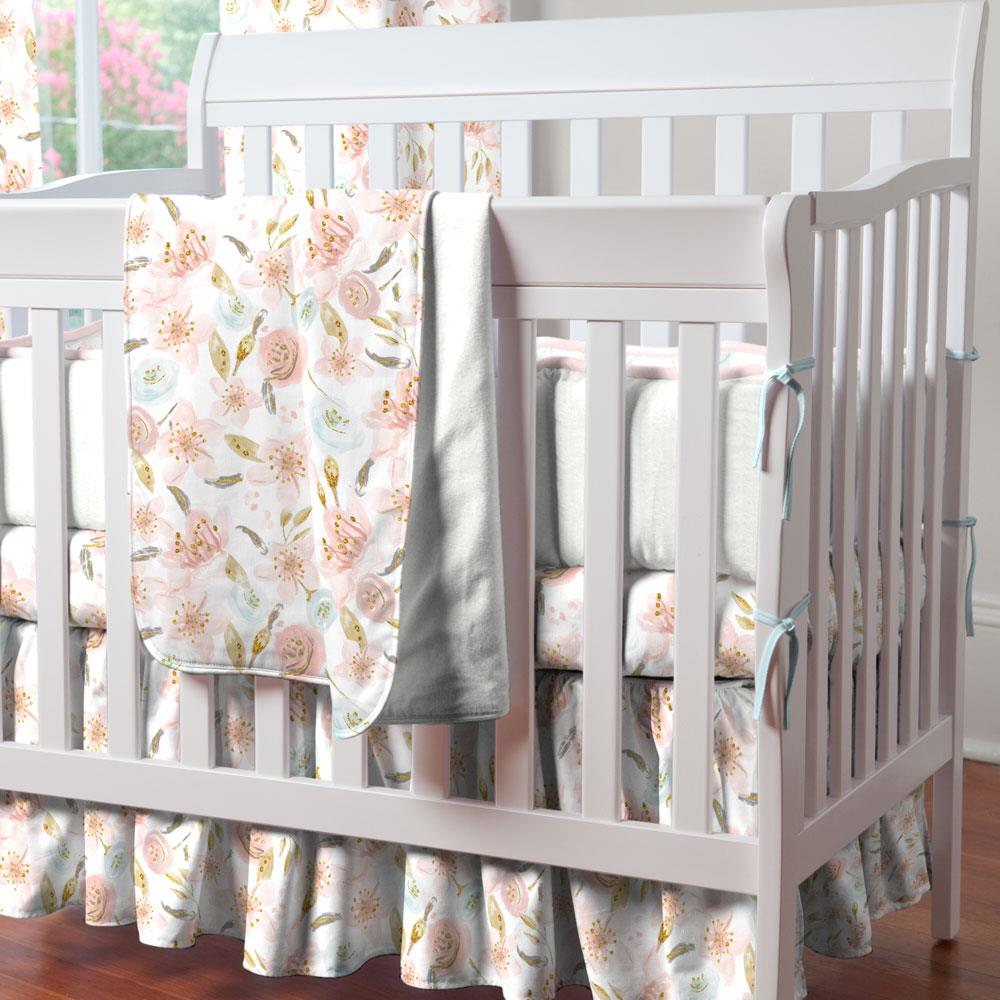 Product image for Pink Hawaiian Floral Mini Crib Bumper