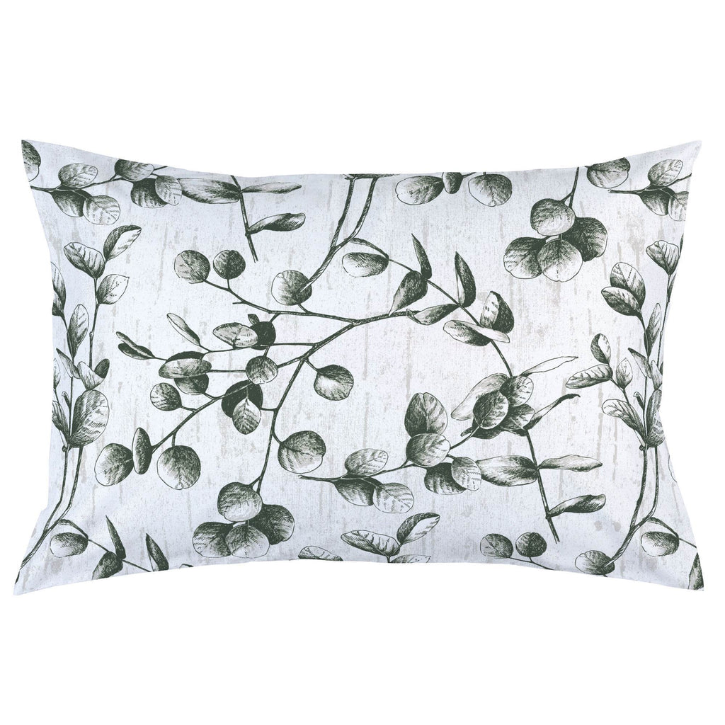 Product image for Dark Green Eucalyptus Pillow Case