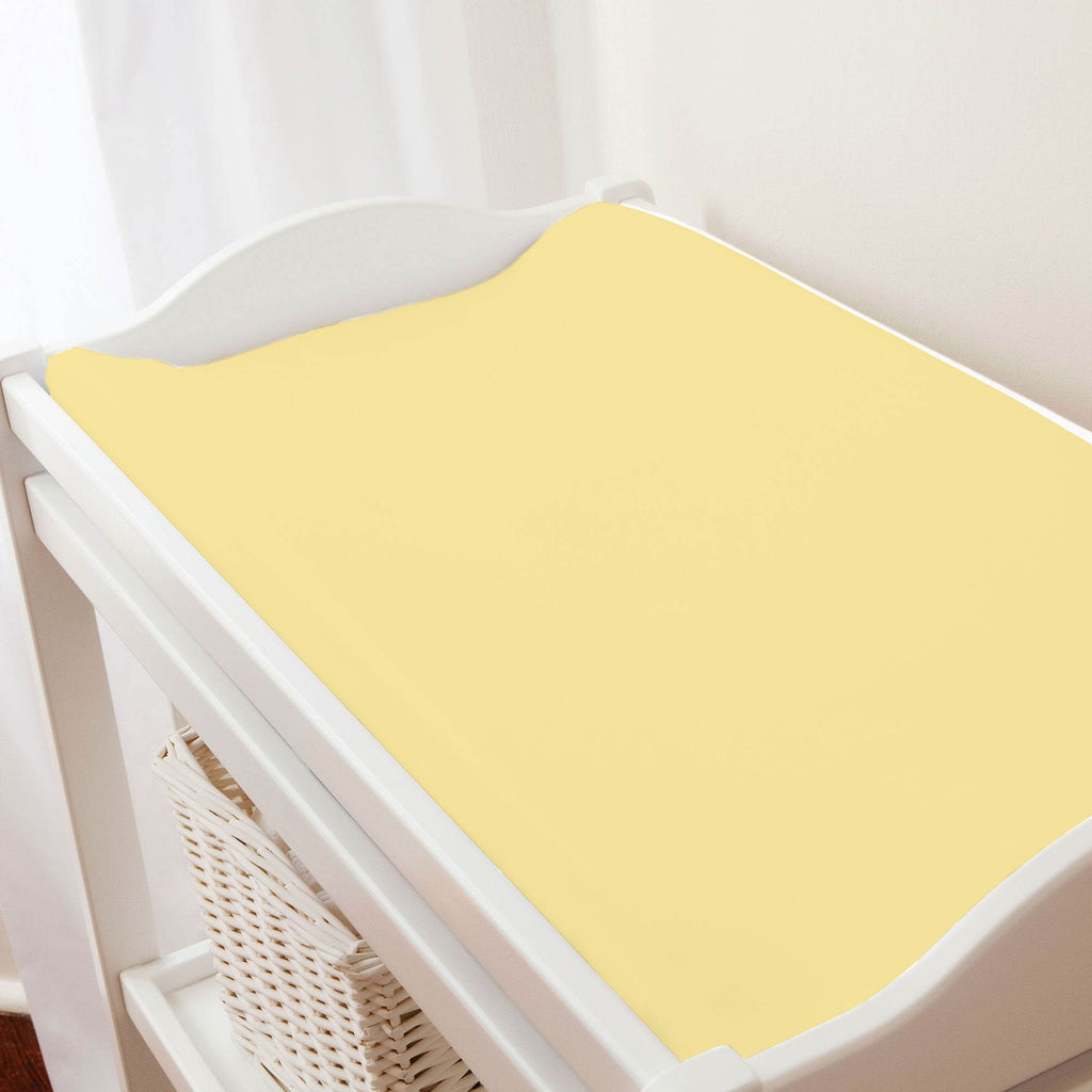 Product image for Solid Banana Changing Pad Cover