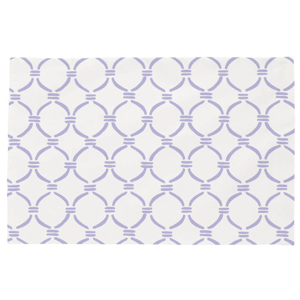 Product image for Lilac Lattice Circles Toddler Pillow Case