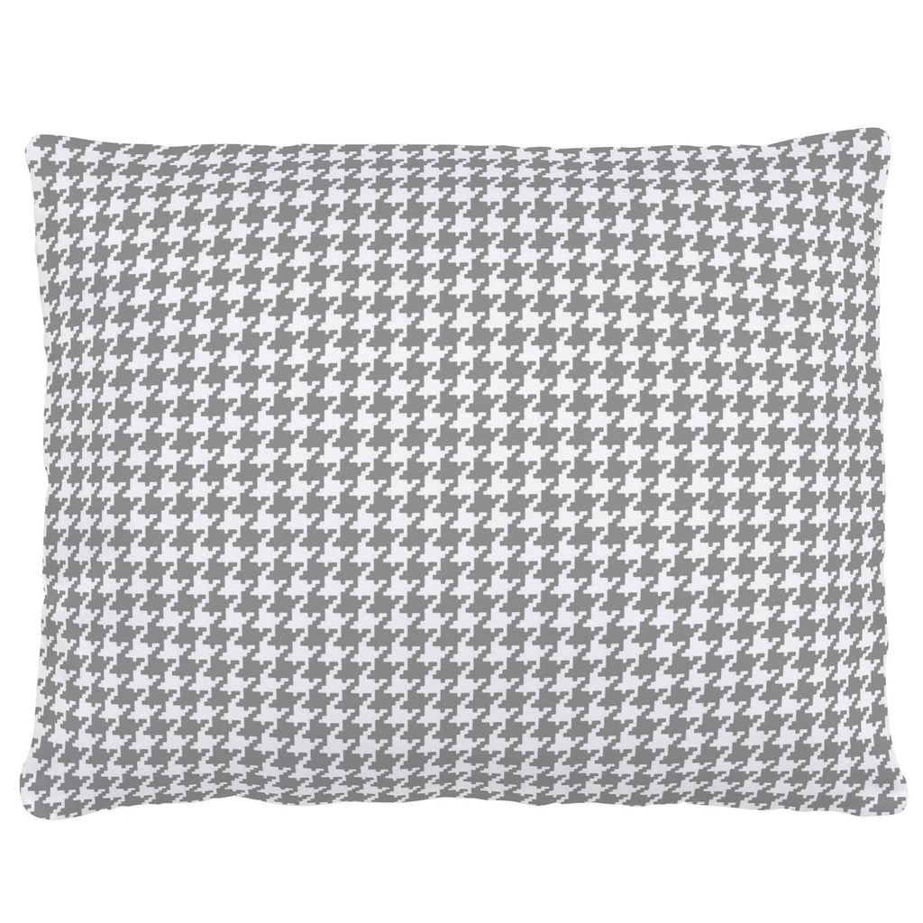 Product image for Cloud Gray and White Houndstooth Accent Pillow