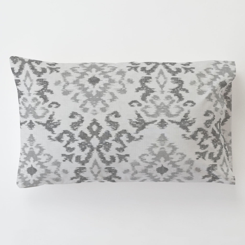 Product image for Gray Ikat Damask Toddler Pillow Case with Pillow Insert